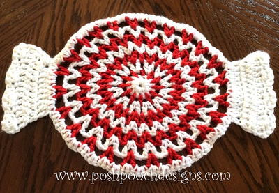 Peppermint Candy Doily