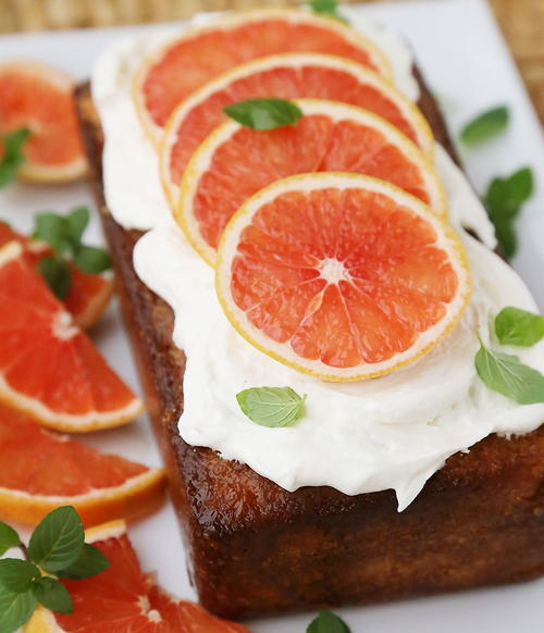 Teatime Mint Grapefruit Cake