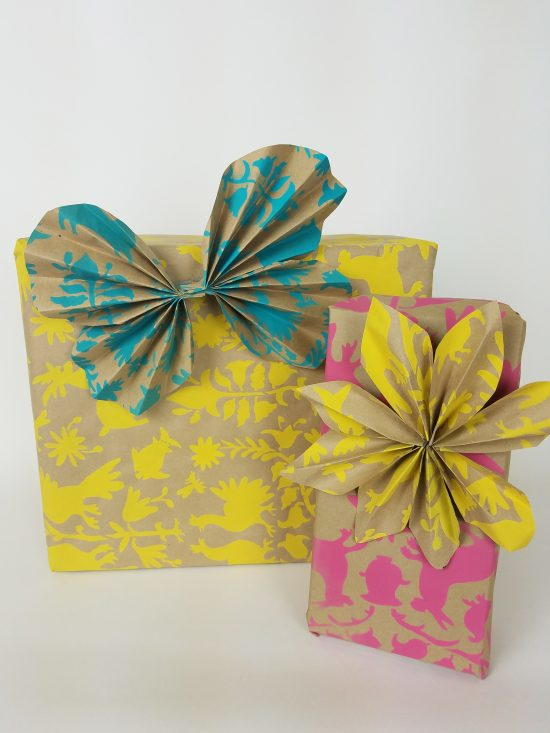 DIY Gift Wrapping Paper using Stencils