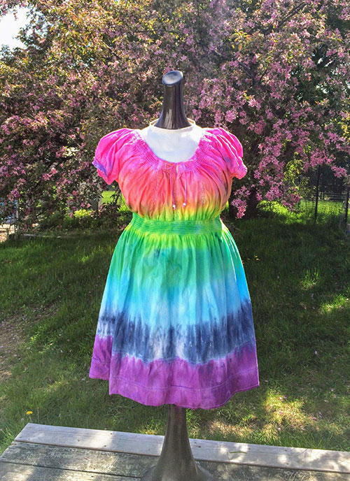 Thrift Store Dress Tie Dye Refashion