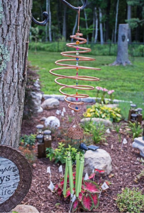 Coiled Copper DIY Wind Chimes