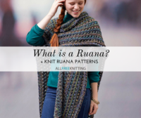 What is a Ruana? + 4 Knit Ruana Patterns