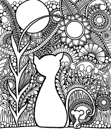Charming Cat Coloring Page