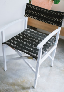 DIY Upcycled Safari Chair Reupholster