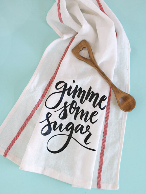 Gimme Some Sugar Dish Cloth Design