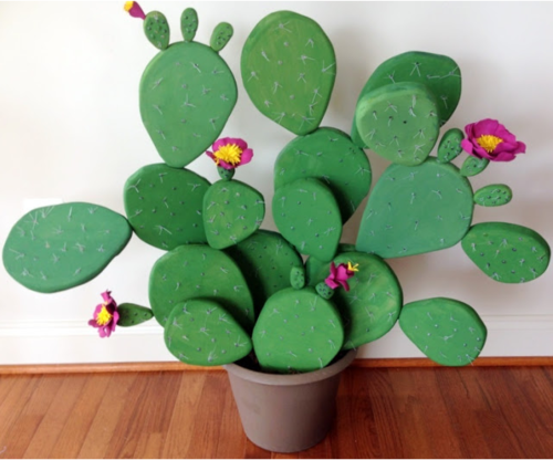 DIY Foam Flowering Cactus