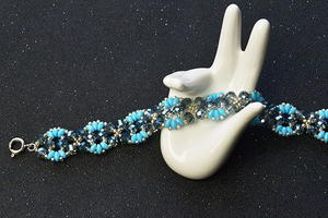 Two-Hole Bead Stitched Bracelet