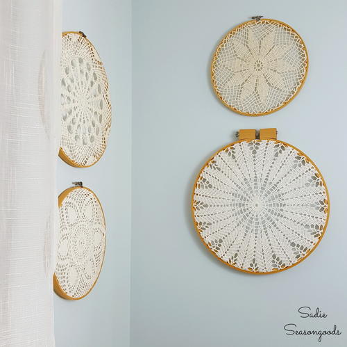 Vintage Doily DIY Wall Art