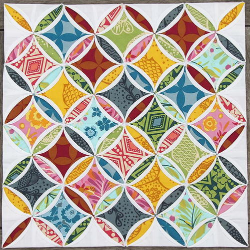Mini Cathedral Windows Quilt
