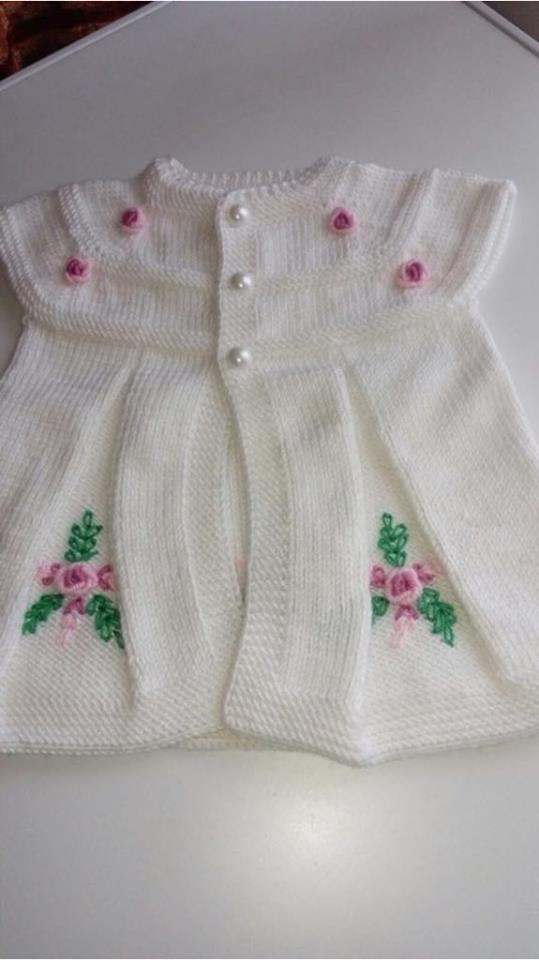 Knitted Vest Pattern for Baby Girls