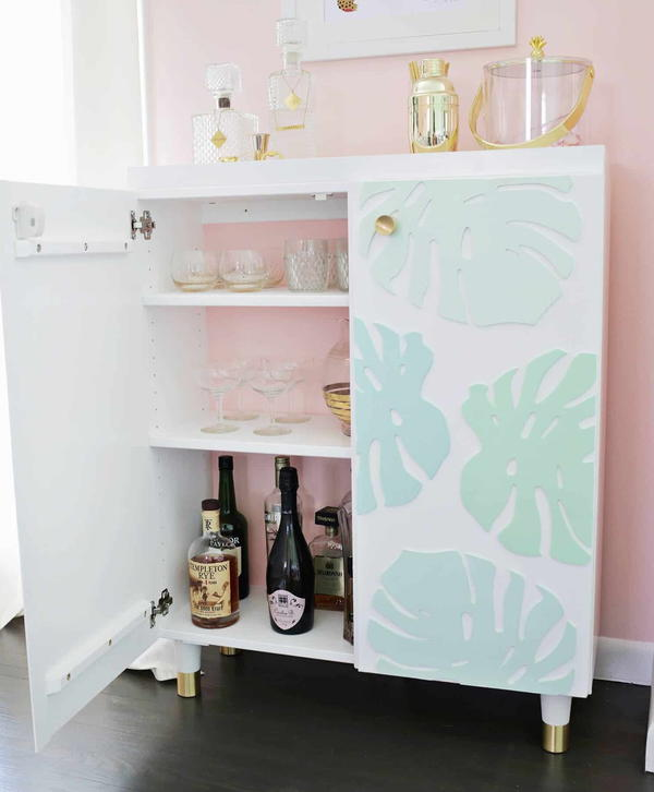 Ikea Hack: DIY Bar Cabinet