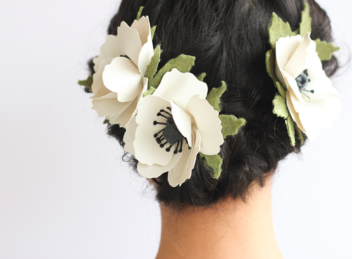 DIY Flower Hair Clip
