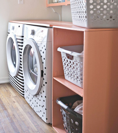 DIY Laundry Storage Shelf