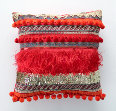 Bohemian Ribbon Pillow Pattern