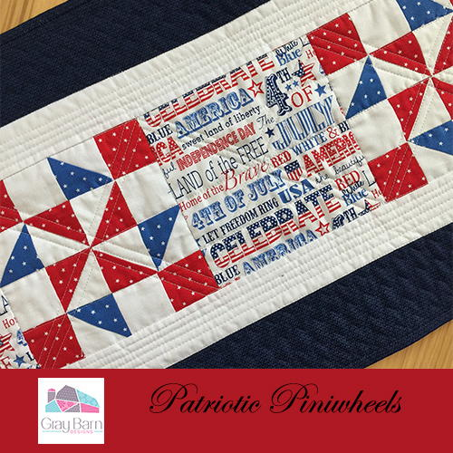 Patriotic Pinwheels Table Runner