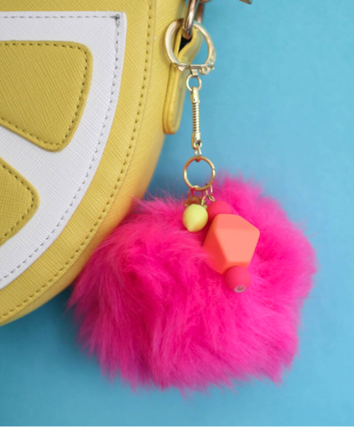 Simple DIY Pom Pom Keychain