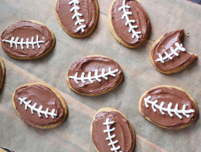 Chocolate Peanut Butter Football Cookies