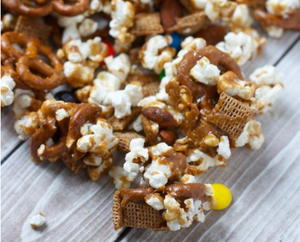 Salted Caramel M&M Snack Mix