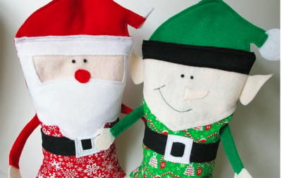 DIY Christmas Rice Bag Buddies