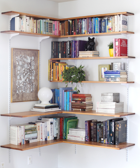 Corner Bookshelves Tutorial