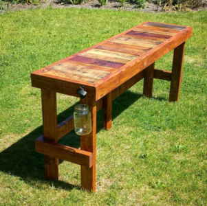 Wood Pallet Diy Outdoor Bar Diyideacenter Com