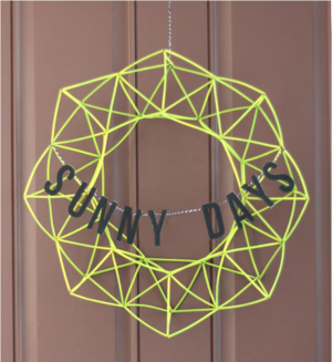 Geometric Himmeli Wreath DIY