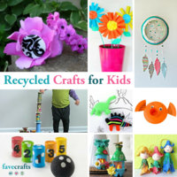 54 Recycled Crafts for Kids