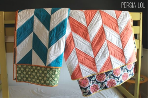 Herringbone Quilt Pattern Tutorial