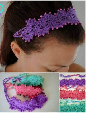 Queen's Lace Beaded Beauty Paisley Headband