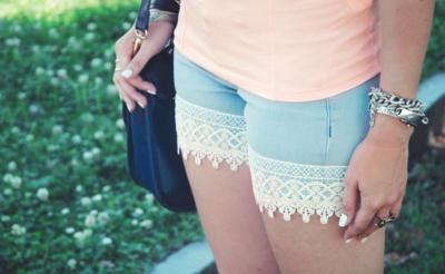 Upcycled Lace Shorts Tutorial