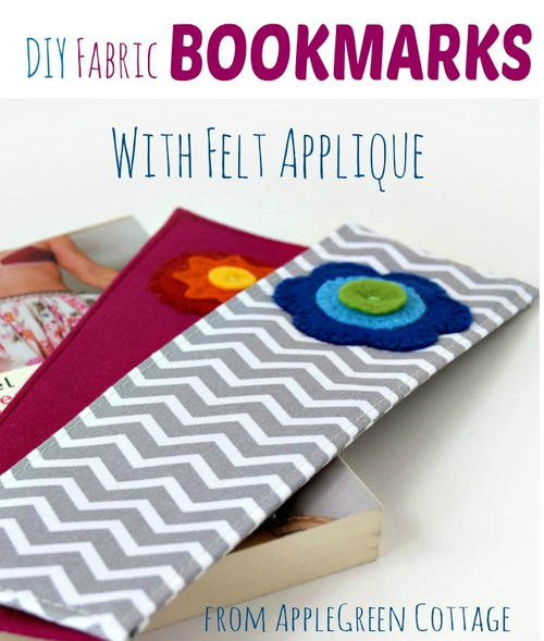 DIY Fabric Bookmarks With Felt Applique