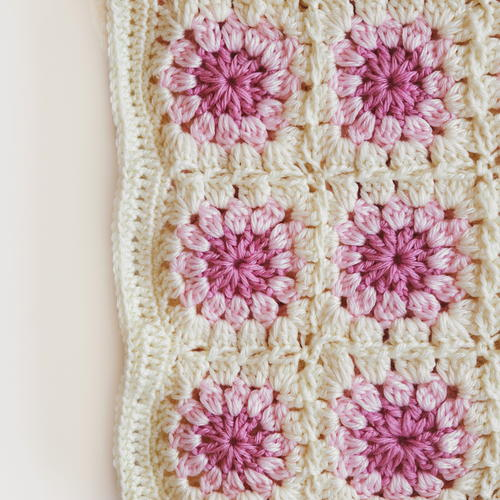 Bloom Granny Square Throw