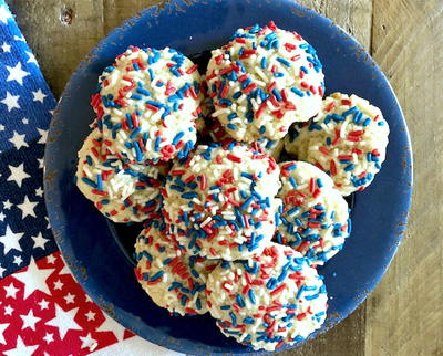 Quick and Easy Patriotic Pudding Cookies
