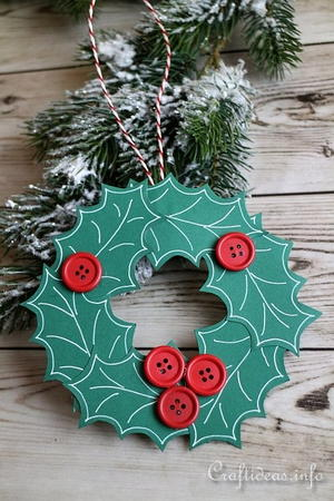 Paper Wreath Christmas Ornament Allfreechristmascrafts