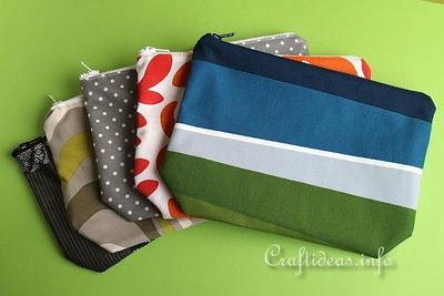 Quick to Sew Lined Cosmetic Pouches