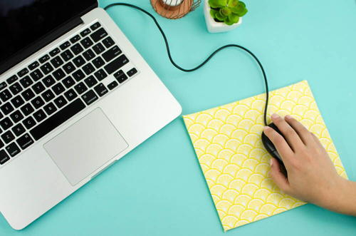 Diy No-Sew Mouse Pad