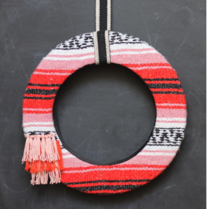 DIY Woven Blanket Summer Wreath