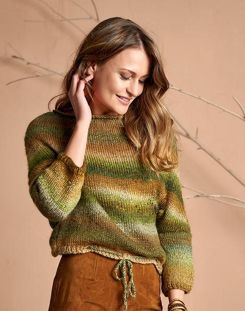 Easy Knitted Sweater Pattern For Women Allfreeknitting Com