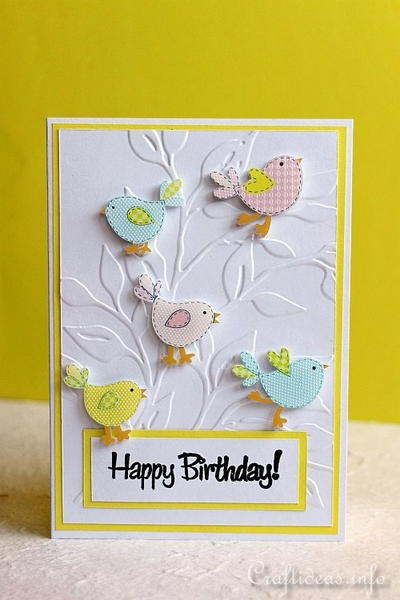 Cheerful Birds Birthday Card