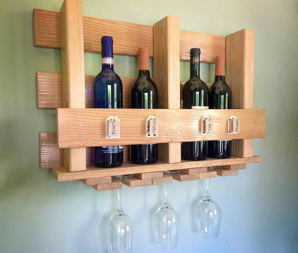 DIY Wall Wine Rack | CheapThriftyLiving.com