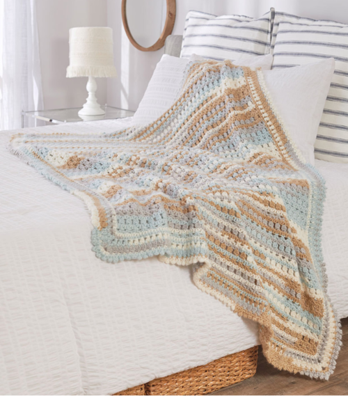 Summer Breeze Crochet Throw Pattern