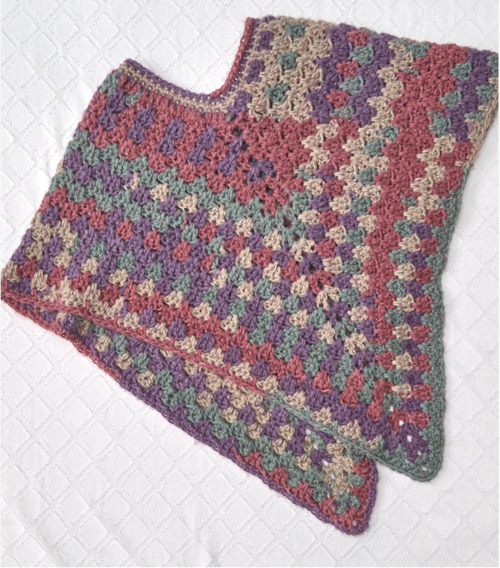 Mountain Breeze Crochet Poncho Pattern