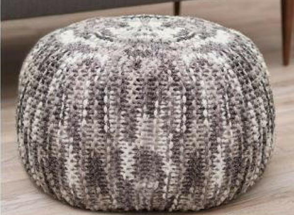Knit Pouf with Pizzazz