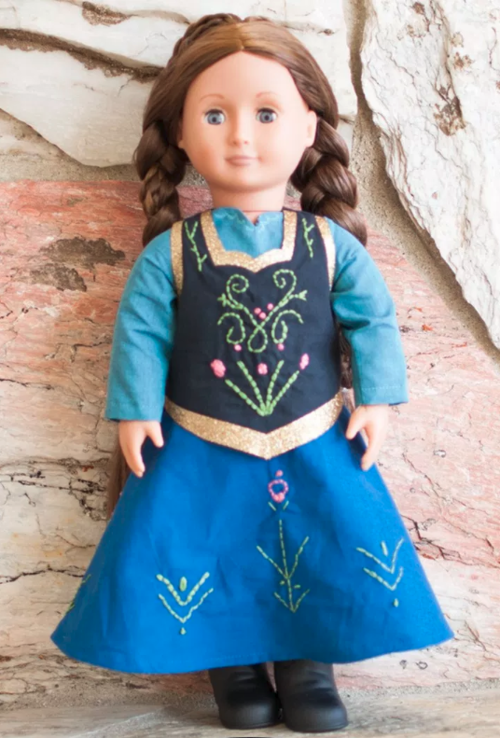 Anna-Inspired Doll Dress Pattern