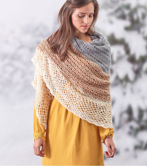 Sensational Free Crochet Shawl Pattern