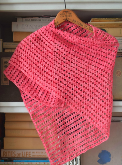 Justine Crochet Prayer Shawl Pattern