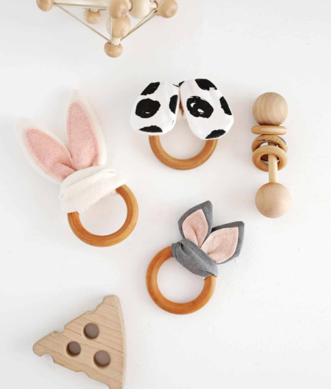Homemade Bunny Ears Teething Ring Tutorial