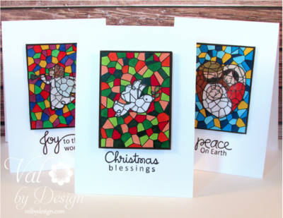 DIY Stained Glass Card Stamp