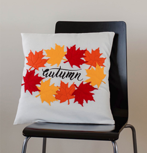 DIY Autumn Leaves Pillow Pattern