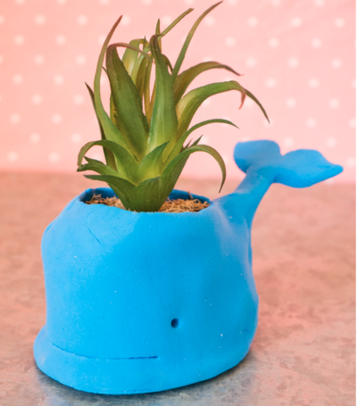 Handmade Whale Clay Planter Pots